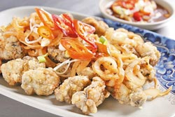 糖醋蚵仔酥 (圖片來源:中國時報/楊為仁)