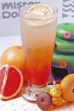 葡萄柚愛玉氣泡飲