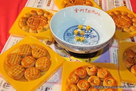 金門中秋玩博狀元餅  (資料照片:NOWnews/王以瑾)