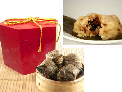 限時限量吉品海鮮端午粽,口感Q彈用料紮實,每一口都能感受頂級海味在口中迸裂出濃郁的幸福滋味