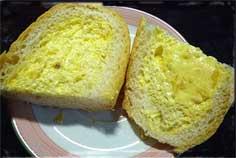 奶油大蒜法包剖面