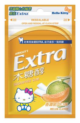 Extra木糖醇無糖口香糖 可愛俏皮風_香濃蜜瓜口味