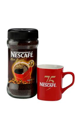即日起,凡於各大通路購買雀巢咖啡雙倍特濃系列與雀巢咖啡醇品罐裝200g,即可獲得75週年限量紅馬克杯,深具收藏價值。