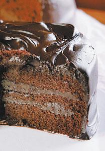 味道/BLACK AS CHOCOLATE有雙層夾餡,看起來稍有價值感。顏色較深。