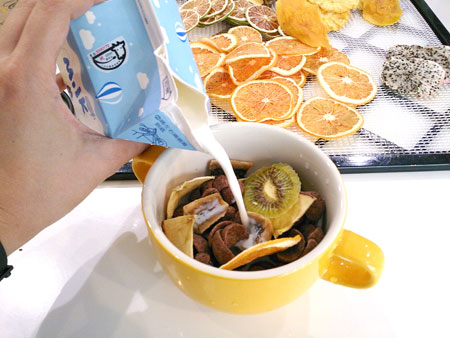 方便、快速的水果穀物早餐