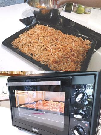 Princess專業旋風式對流烤箱將料理烤至金黃香酥