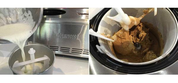 一股咖啡香撲鼻而來,伴著綿密細滑的冰淇淋,忍不住想嘗一口