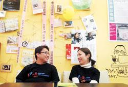 熱血情侶▲從參與社運到開設公平貿易咖啡館,徐文彥及余宛如不但理念契合,也培養出絕佳默契。(范揚光攝)