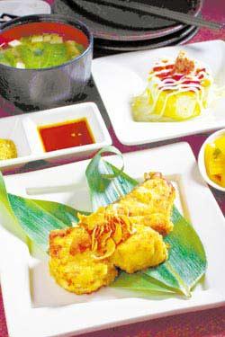 夏日鮮魚套餐 119元+10% 有4道配菜及3道不同料理手法的鮸魚可以挑選。