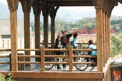 大湖南湖村單車道最近才完工,中途還有休息站可停靠