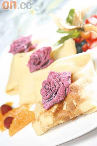 法式薄餅:法式薄餅為法國北部美食,派對當日更會在大家面前即製,口味鹹甜皆有,例如蘑菇餡料及香蕉朱古力等。