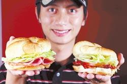 華酥堡/採用口感軟酥的奶油可頌,配上生菜、火腿或培根,可當輕食或點心。