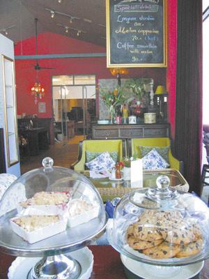 在清邁有越來越多個性咖啡館,這間Ginger就是賣咖啡兼賣生活雜貨,很受當地人歡迎。黃麗如/攝影