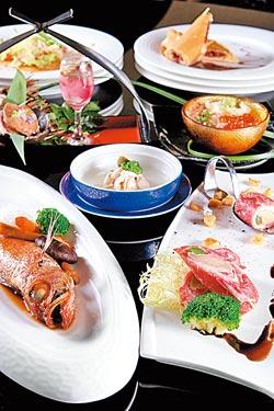 雙饗宴豪華套餐/2300元+10%▲除了頂級鐵板主餐和海鮮燒物的雙主菜,還有日式蒸鮑魚及厚岸生蠔醋飲的雙盛合。攝影  楊為仁