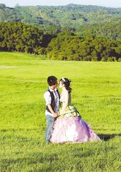 ▲青青草原可以感受新竹風的威力,也是拍婚紗的新景點。攝影  范揚光