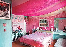 ▲La Casa的房間很有波西米亞的風味,是Charlene親手打造。攝影  鄧博仁