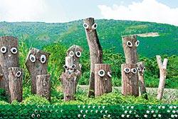 ▲花東縱谷除了冬季的花海外,也能意外發現許多可愛的裝置玩偶。攝影  陳志東