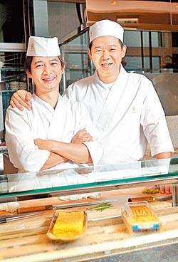 ▲同28日本料理的老闆洪慶同(右),以及行政主廚莊祥林,都擁有扎實的手藝。攝影  陳信翰
