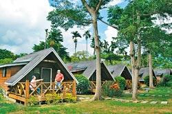 ▲歐都納度假村採低密度開發,住宿以小木屋為主,很有國外國家公園旅館的情調。攝影  黃麗如
