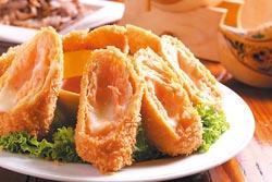 起士炸蝦卷/200元▲酥脆可口的蝦卷,沾主廚特製的泰式燒雞醬,微酸帶甜,滋味絕佳。攝影  楊為仁