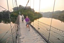 ▲峨嵋湖環湖單車路線已經完成,趁著假期可號召親朋好友一起騎單車、看湖景,感受峨眉的悠閒。攝影  劉宗龍