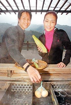 ▲泓泉以溫泉水烹煮新鮮食材,是道道地地的溫泉饗宴。攝影  鄧博仁