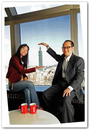 馬先生與Janet在視野良好的景觀餐廳共享120分鐘的好咖啡