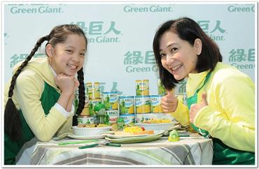 傅娟及歐陽娜娜 家中廚房 天天有超過十罐的綠巨人玉米備用