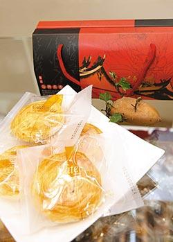 ▲金山紅藷片以66號地瓜製作,可加牛奶當早餐吃。攝影  方濬哲