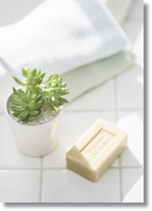 固體狀的全皂性洗面皂,適合偏油性皮膚者使用。