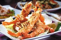 海苔鹽酥蝦/80元▲日式酥炸手法,帶著淡淡海苔清香,香酥不油膩。攝影  鄭夙玲