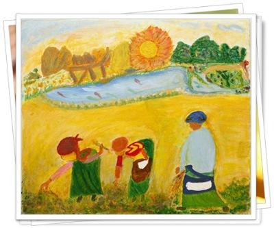 奈良美智即表示,「阿嬤的作品充滿對日常生活及對親人的愛,流露現代人少有的真摯情感。」。