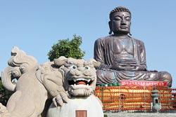 八卦山大佛 ▲從八卦山的大佛開始,就能展開139縣道的祈福茶鄉之旅,感受中台灣的春意。攝影  黃國書