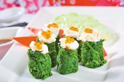 白玉過貓/單點500元▲以日式手法烹調野菜過貓,呈現和風的清新爽脆感。攝影  鄭夙玲